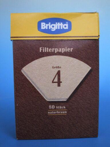 80 פילטרים מנייר -ברגיטה - גודל 4