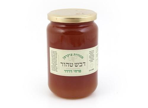 דבש לא מחומם מפרחי דרדר- 1קג - צנצנת זכוכית