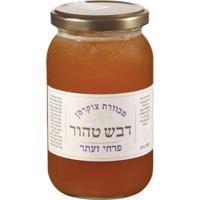 דבש לא מחומם מפרחי זעתר- 1קג - צנצנת זכוכית